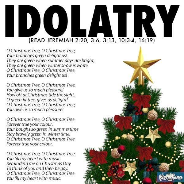 Christmas Tree Idolatry