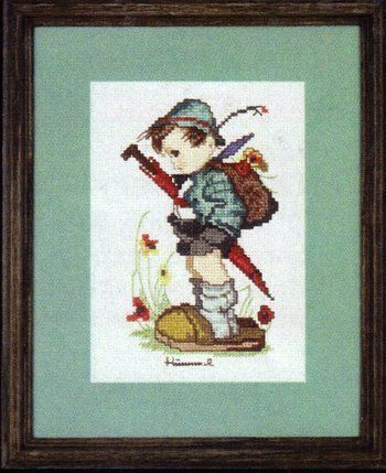 Hummel - Looks Like Rain, Counted Cross Stitch Kit, Weekenders by JCA, http://www.amazon.com/dp/B000VS5O5C/ref=cm_sw_r_pi_dp_7uJKrb0PVSXAP