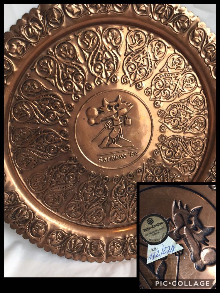 Sarajevo Winter Olympics 1984 Vocko Mascot Souvenir Decorative Copper Plate  sc 1 st  Pinterest & Sarajevo Winter Olympics 1984 Vocko Mascot Souvenir Decorative ...