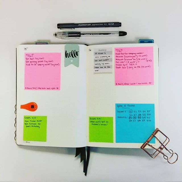 GTD Tickler File, adapted to my BuJo. My May calendar only holds events and tasks that MUST get done that day; but what about tasks that don't need to get done that day, but are TRIGGERED to start that day? They go in my Tickler. If anyone is interested I can explain in greater detail on the blog. ☺ #bulletjournal