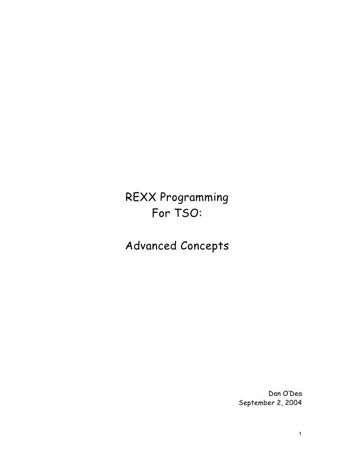 Advanced REXX Programming Techniques programming Pinterest - marketing action plan template