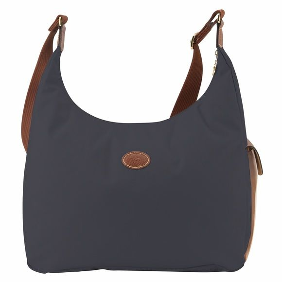 Longchamp Le Pliage hobo crossbody in gunmetal 100% authentic Longchamp Le  Pliage Hobo crossbody in gunmetal. Preowned but in very good condition (no  corner ... e5a161d776331