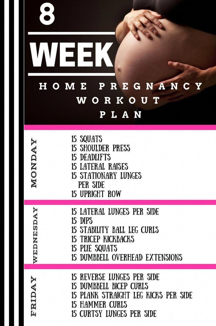 Pin on Pregnancy at home workouts