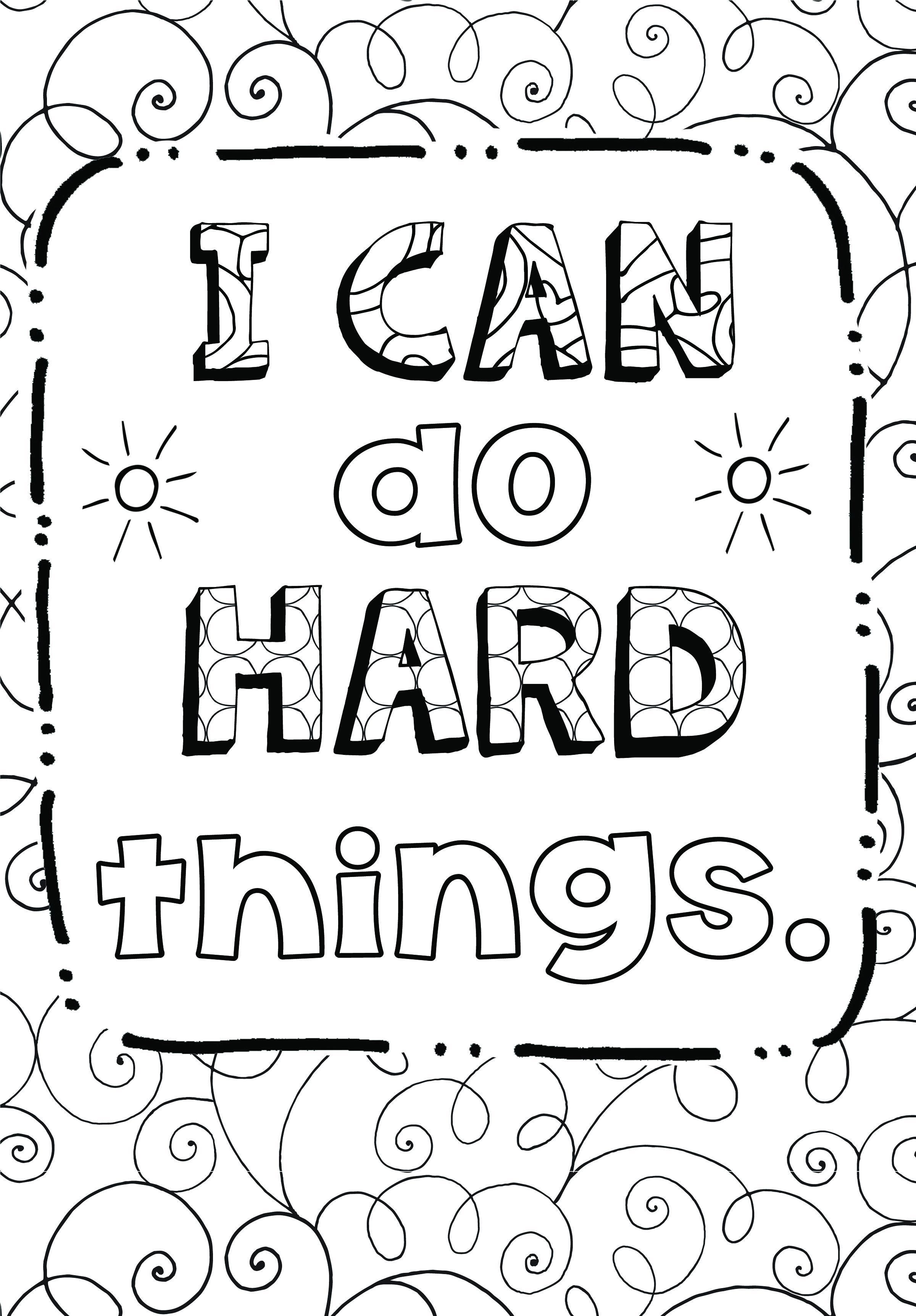 Free Coloring Page Growth Mindset With Images