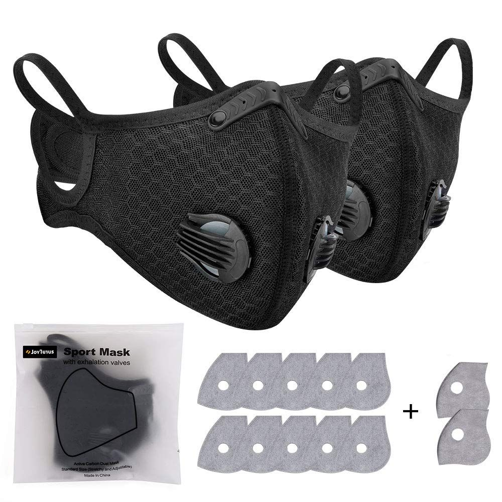 2 Pack Antipollution Cycling Face Cover with 12 Pack