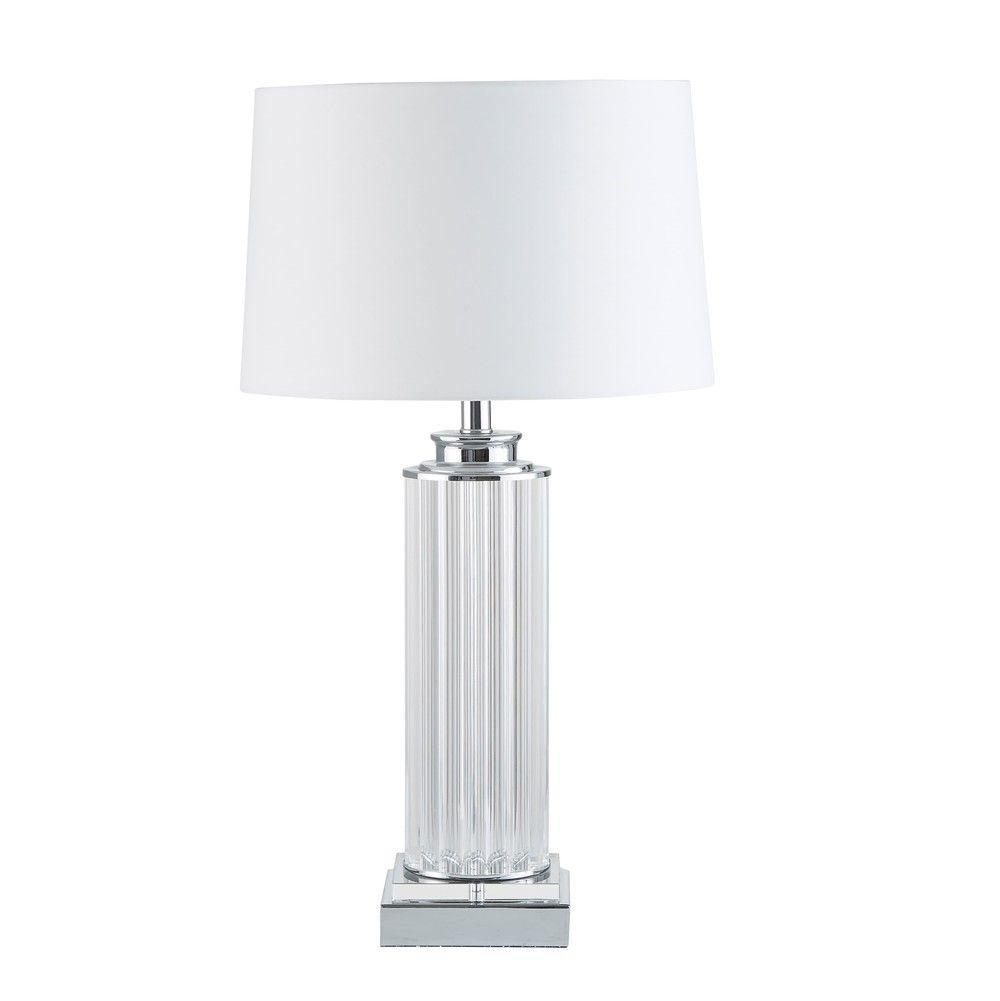 Saulenlampe Mit Weissem Lampenschirm Jetzt Bestellen Unter Https Moebel Ladendirekt De Lampen Tischleuchten Beistelltischlampe Lampenschirm Weiss Lampe Lampen