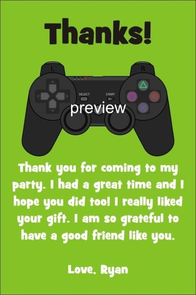 Playstation xbox video game thank you card click to personalize playstation xbox video game thank you card stopboris Images