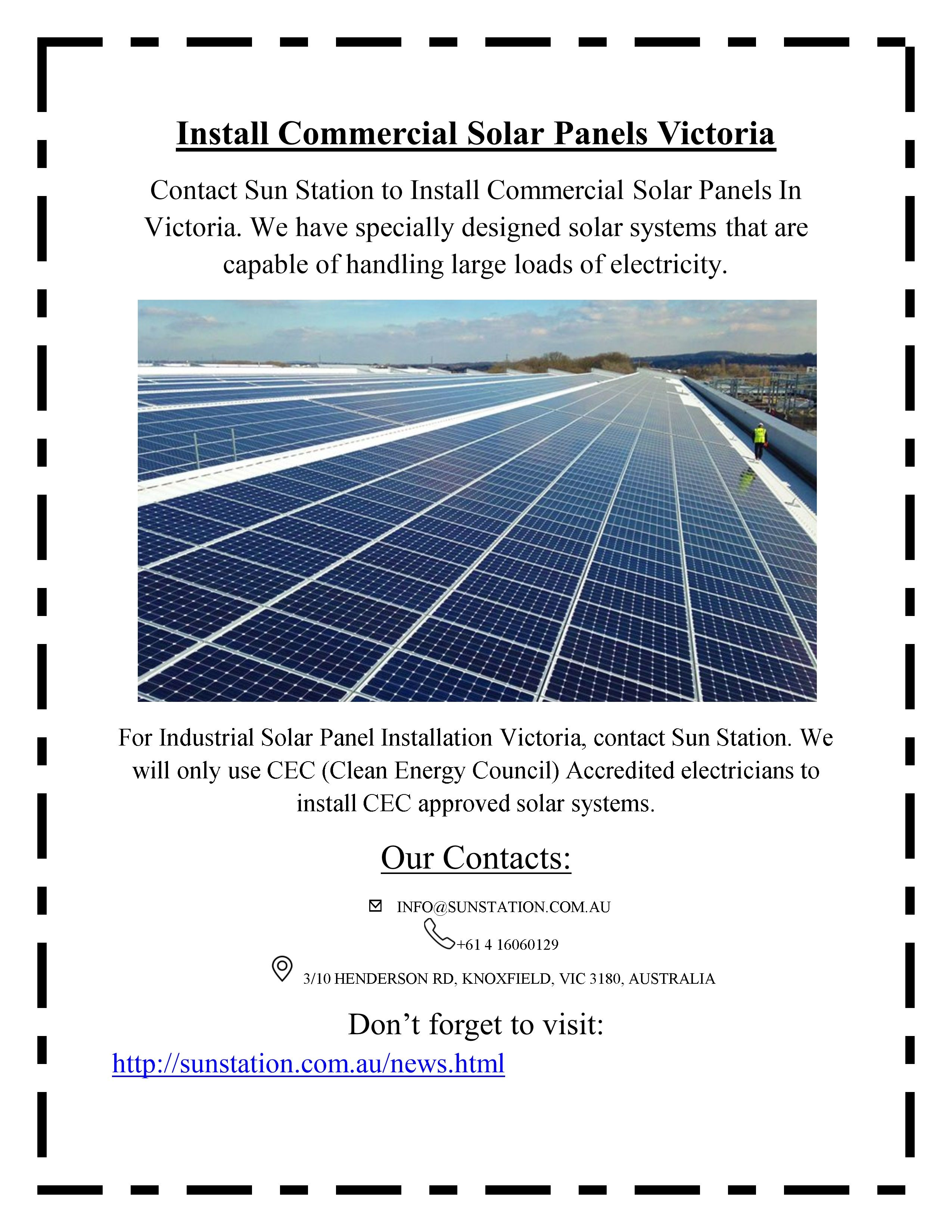Install Commercial Solar Panels Victoria In 2020 Solar Solar Installation Solar Panels