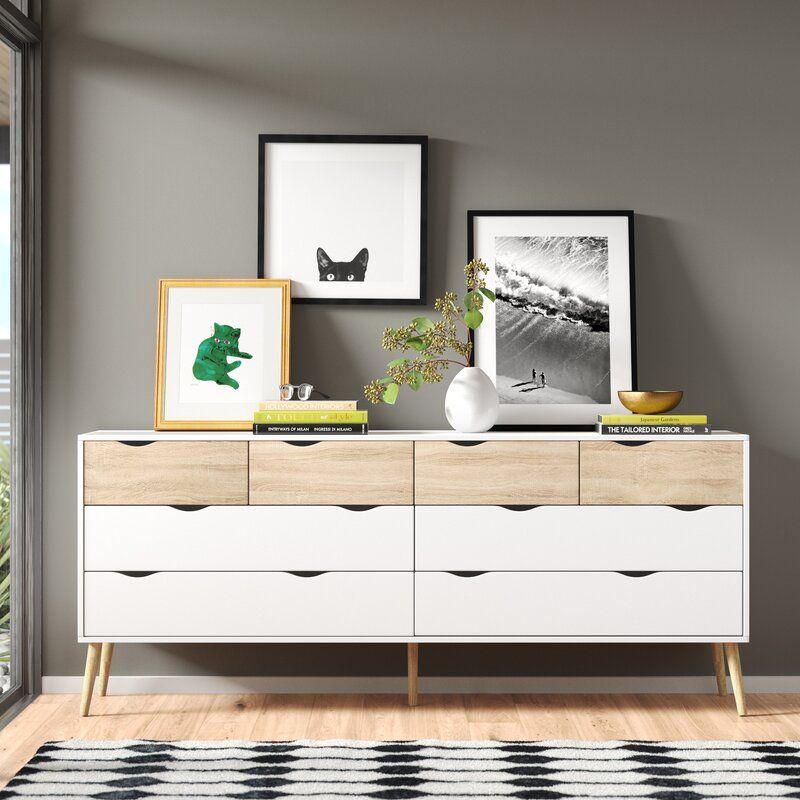Copenhagan 8 Drawer Double Dresser In 2020 Furniture Upholstered Panel Bed Double Dresser