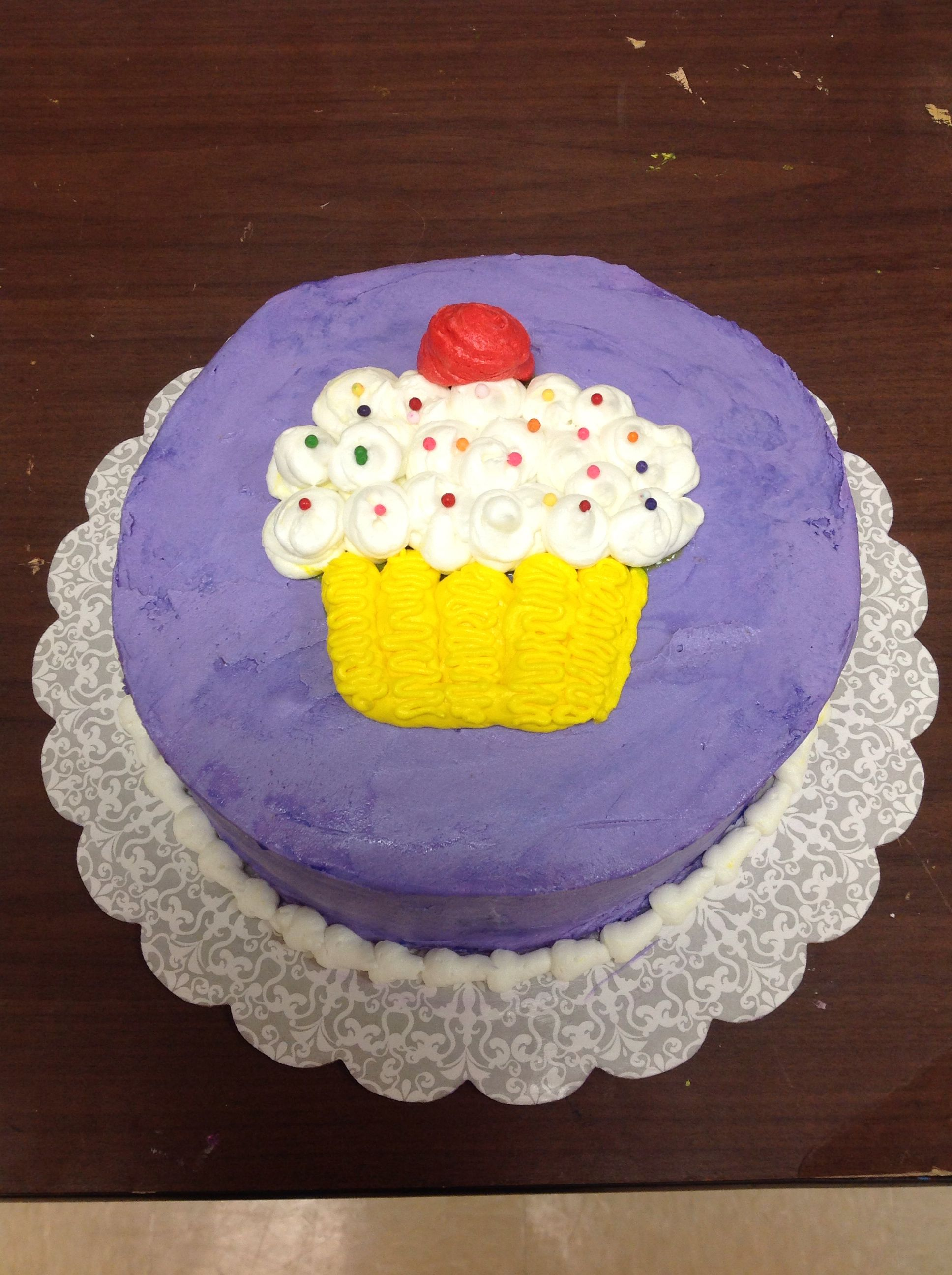 Ashlee Lai Made A Beautiful Cake In Course 1 Decorating Basics At