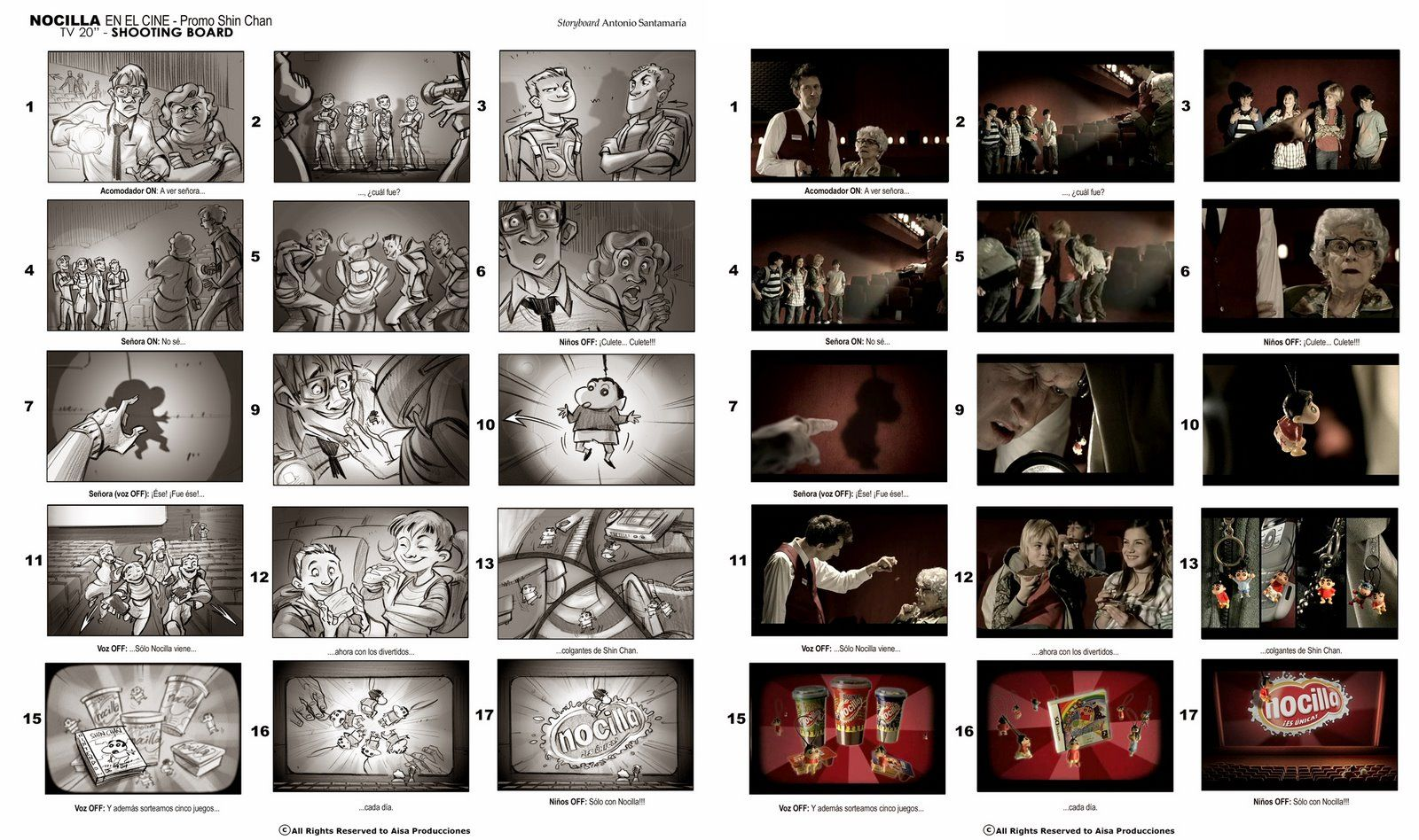 Storyboards For LiveAction Commercials   Storyboarding