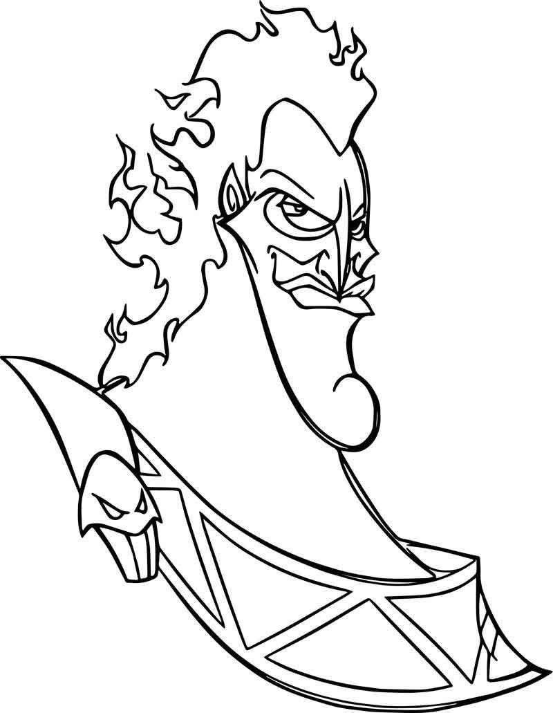 Hades Face Coloring Pages Em 2020 Desenhos Para Colorir Disney