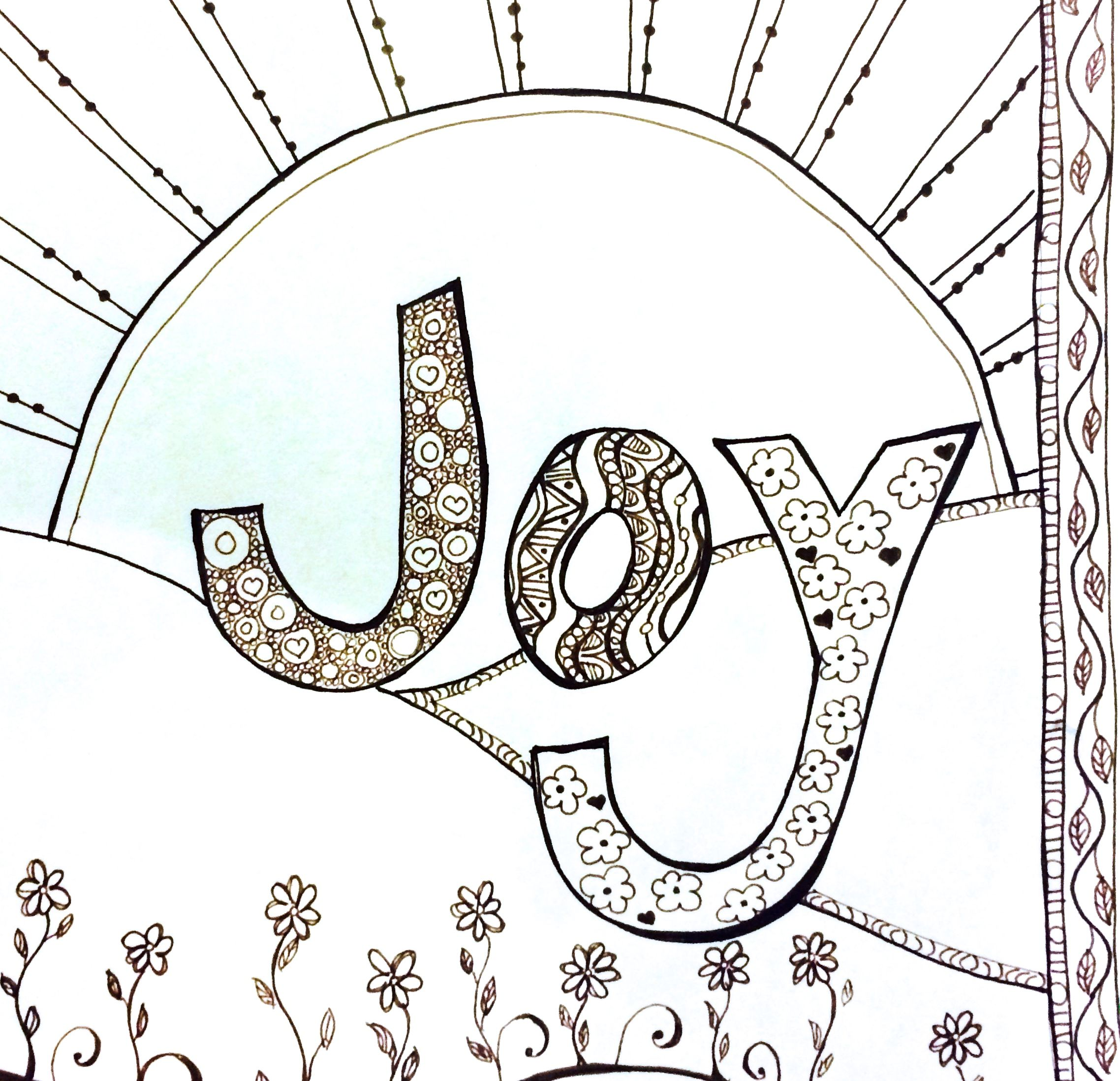 Joy Coloring Page Coloring Pages