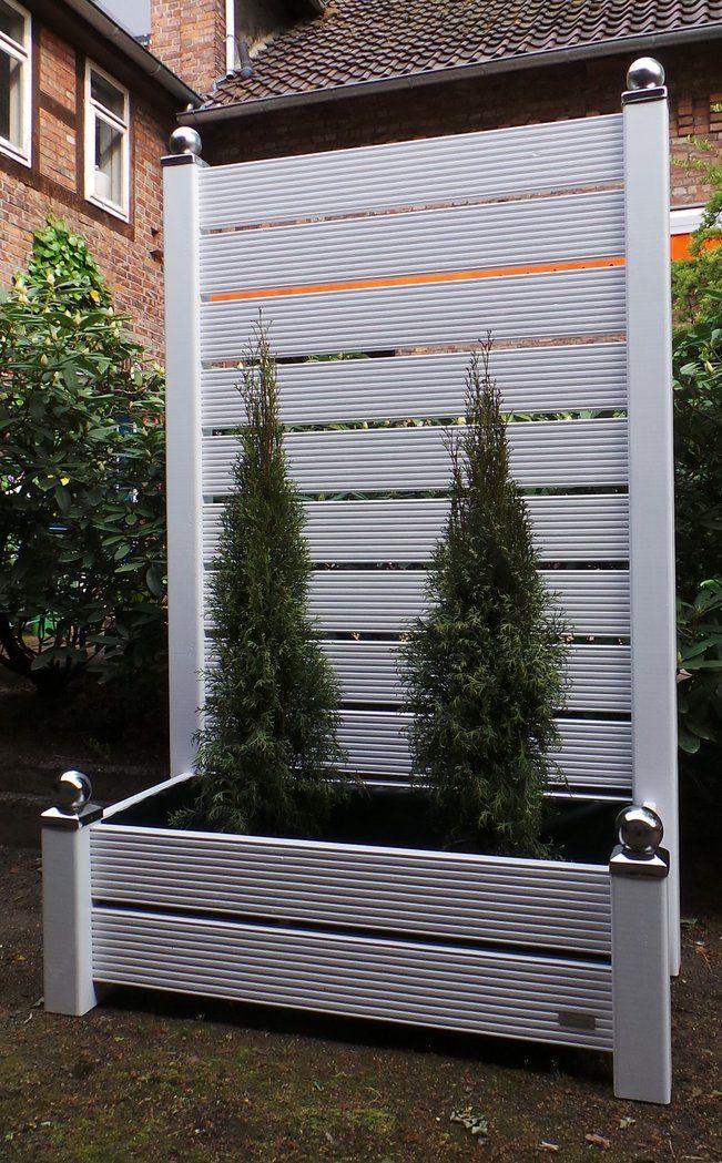 Mobiler Sichtschutz mit Pflanzkasten H190 Blumenkasten Garten - mobiler sichtschutz garten