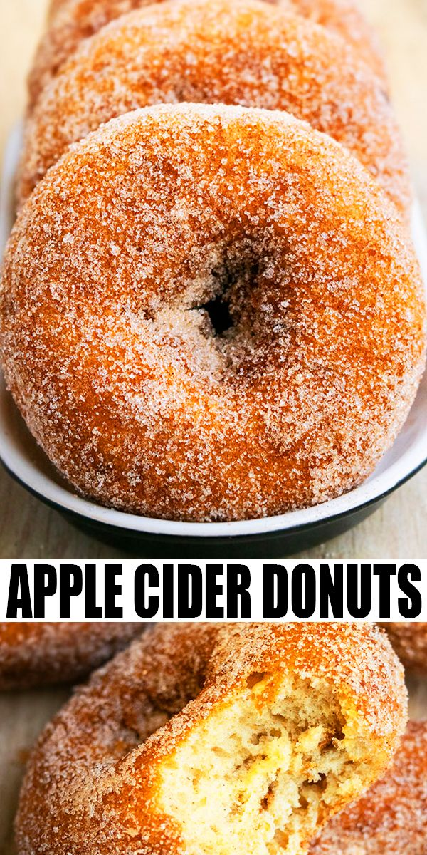 BAKED APPLE CIDER DONUTS RECIPE- Easy, old fashioned, baked donuts, homemade with simple ingredients in about 30 minutes. Coated in spiced cinnamon sugar. Soft, moist, tender and cake-like! Can also make donut holes. From CakeWhiz.com #donuts #apples #baking #breakfast #dessert #fall #thanksgiving