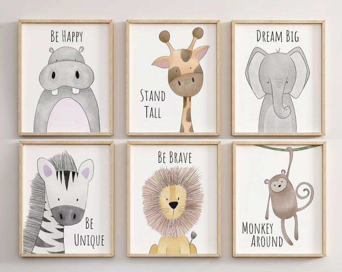 Safari Nursery Decor, Animal Nursery Printa, Quote Nursery Print, Peekaboo Nursery, Safari Animal, Safari Nursery, Neutral Nursery Prints -   24 nursery decor animals ideas