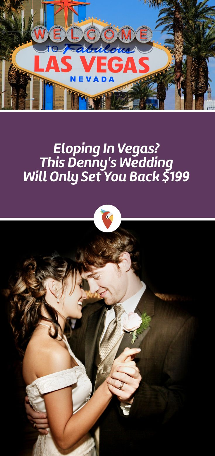Eloping in vegas this dennys wedding will only set you