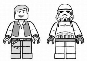 lego star wars coloring page han solo and storm trooper lego star wars birthday star wars colors lego coloring pinterest