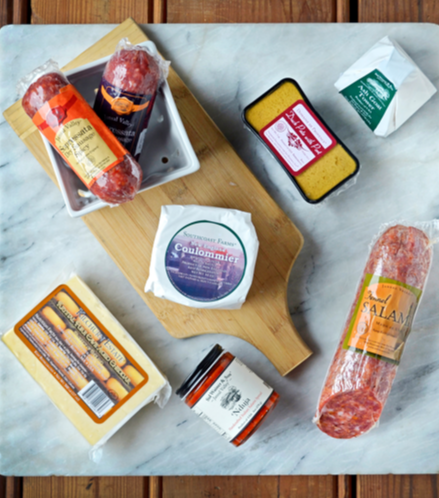 The ancient art of charcuterie brings us back to rustic visions of France, Spain, and Italy during the Middle Ages. After generations of refining traditional techniques, this selection showcases the best examples of modern domestic salami and fine cheeses.