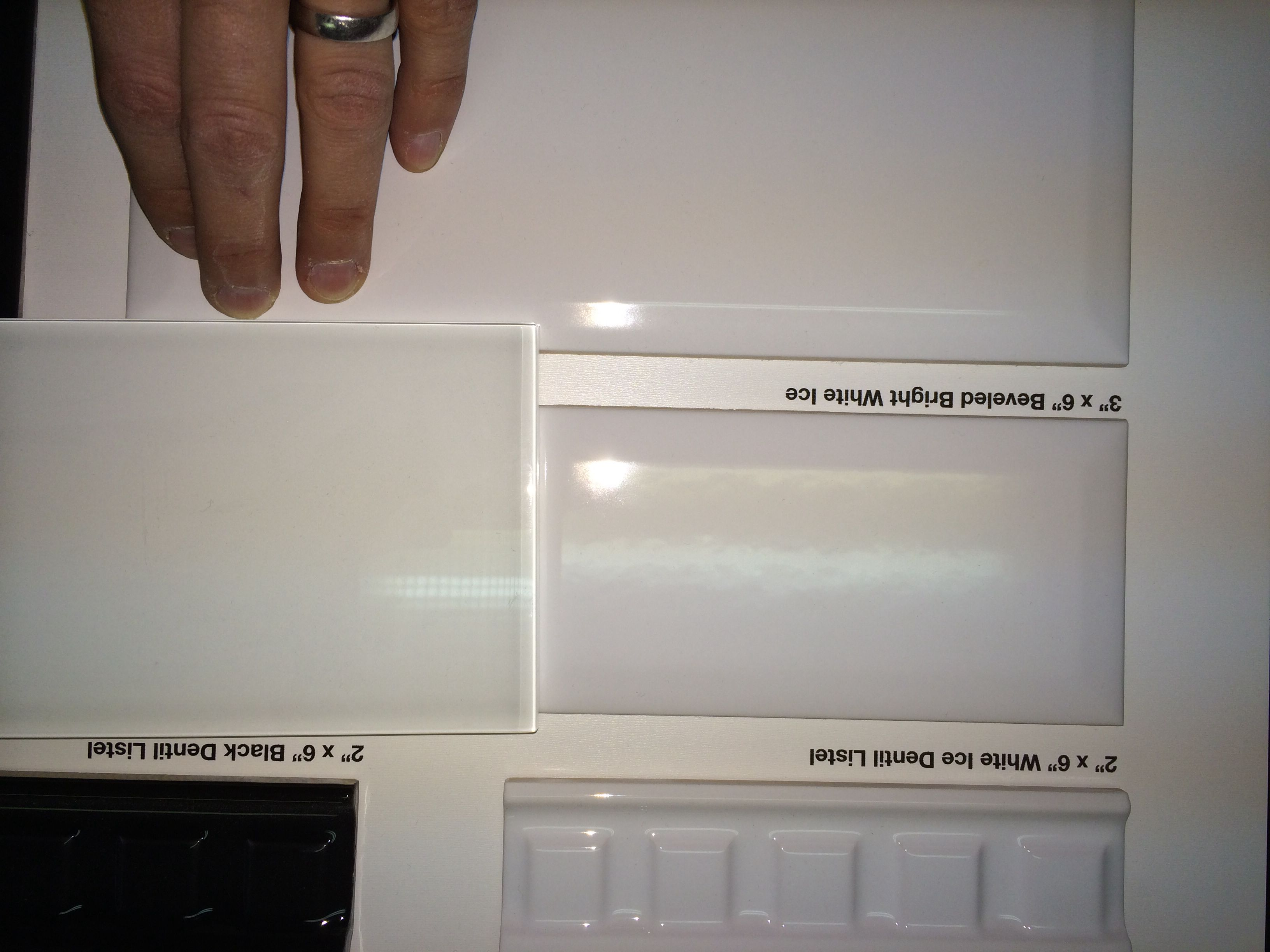 - Comparison Of Backsplash Tile Options: White Glass Tile (current