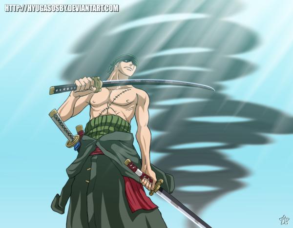 Roronoa Zoro 3 Sword Style By Hyugasosby On DeviantART