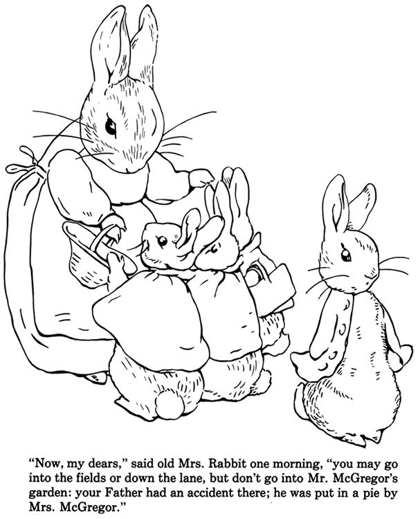 The Tale of Peter Rabbit Coloring Book Dover Publications | Coloring ...