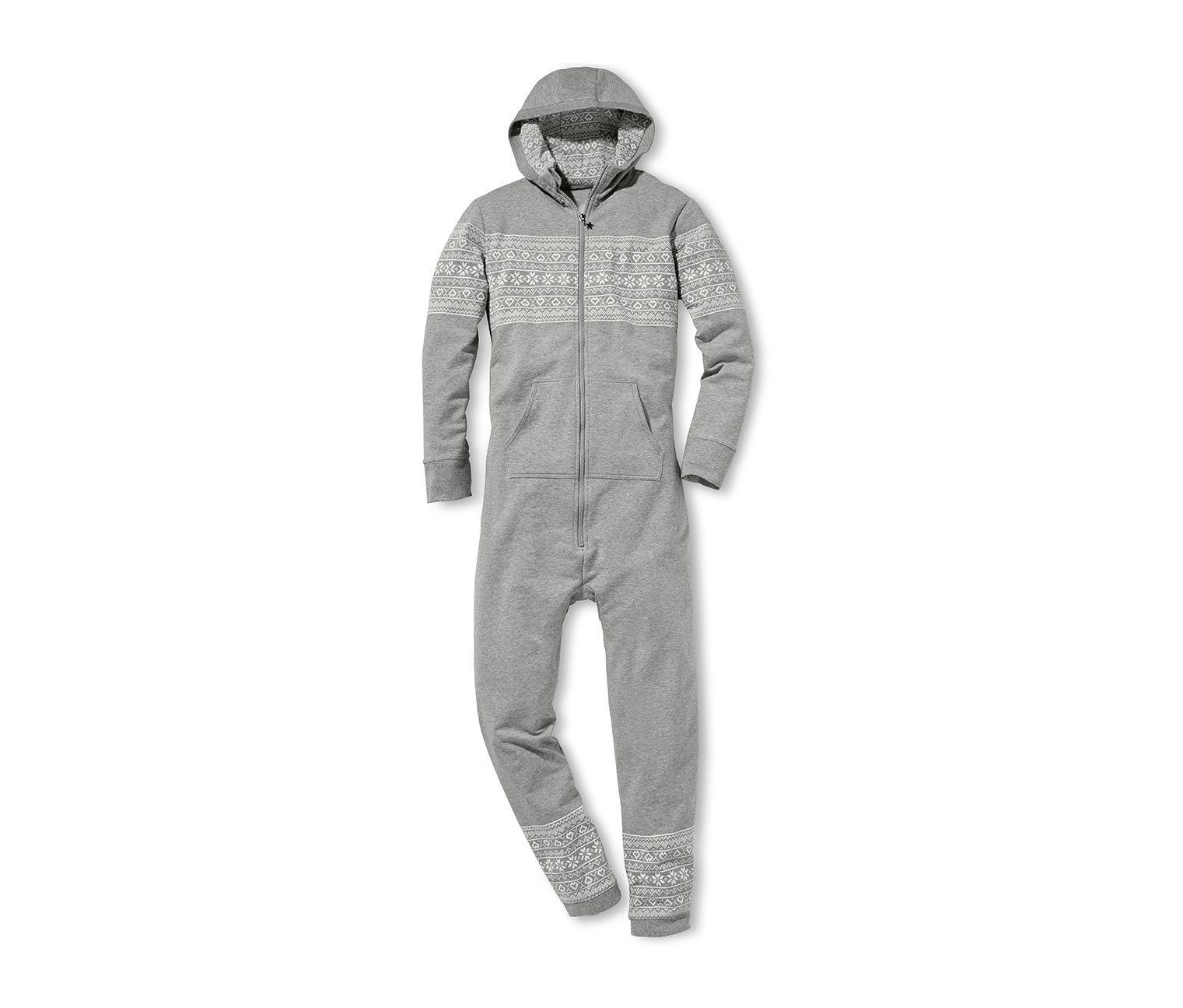 39,95 € Jetzt ist Gemütlichkeit angesagt! Der lässig weit geschnittene Jumpsuit ist durch die flauschig angeraute Innenseite besonders kuschelig.