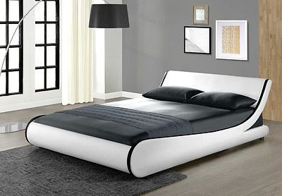 Modern Double Bed Room White King Size Home Furniture Designer