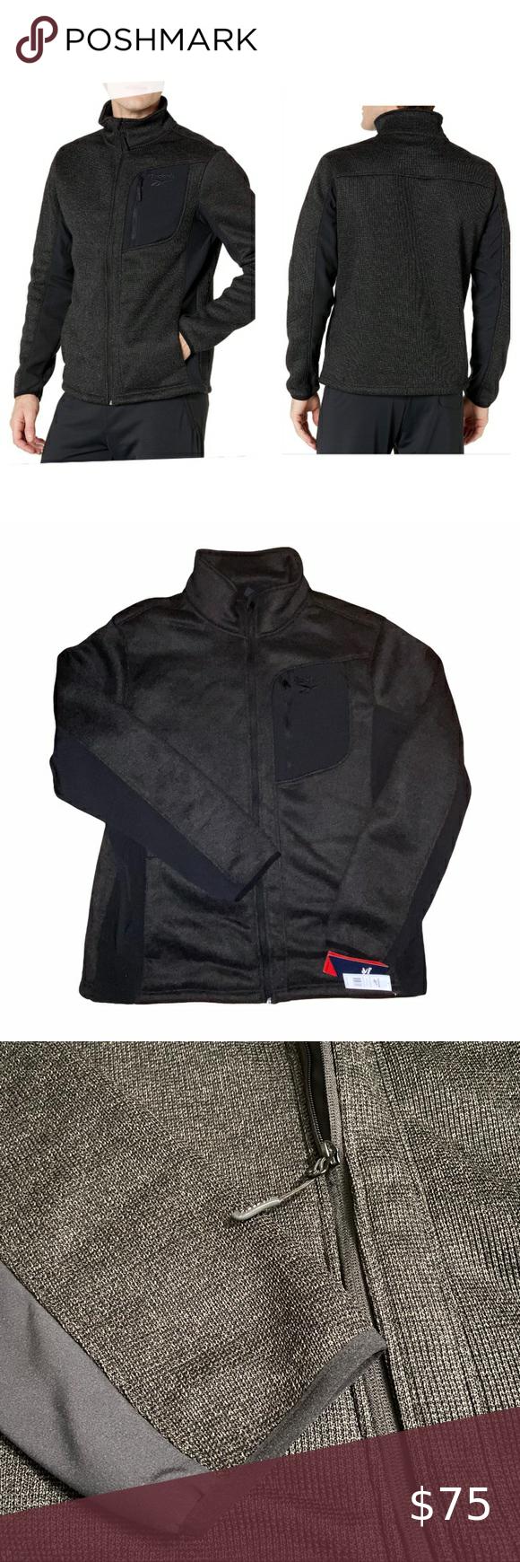 Reebok Textured Outerwear Jacket Heather Black Outerwear Jackets Heather Black Outerwear [ 1740 x 580 Pixel ]