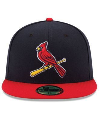 New Era 59FIFTY St Louis Cardinals Fitted Hat Cap Navy//Red