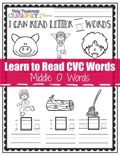 FREE Learning to Read CVC Words Pack