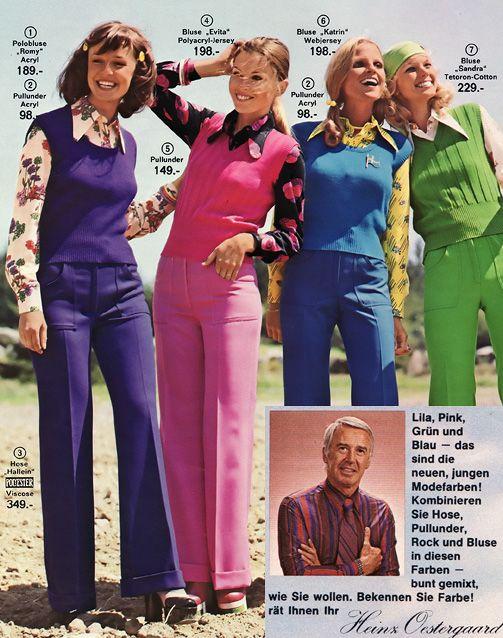 quelle katalog 1975 die modehits batik materialmix wie jeans und spitze ausgefallene. Black Bedroom Furniture Sets. Home Design Ideas