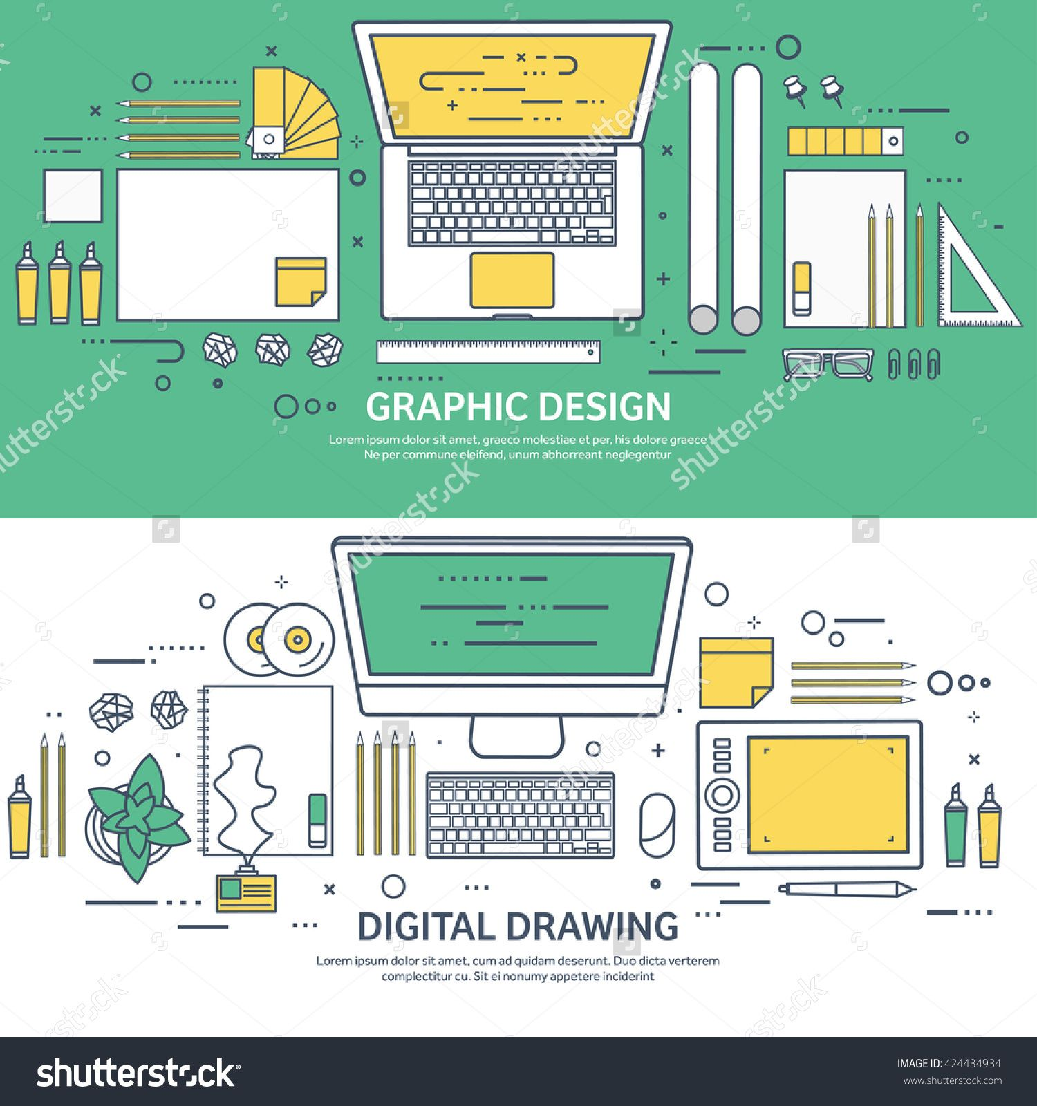 stock-vector-graphic-web-design-illustration-flat-outline-style-line ...