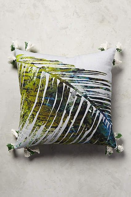 Anthropologie EU Palm Jungle Pillow