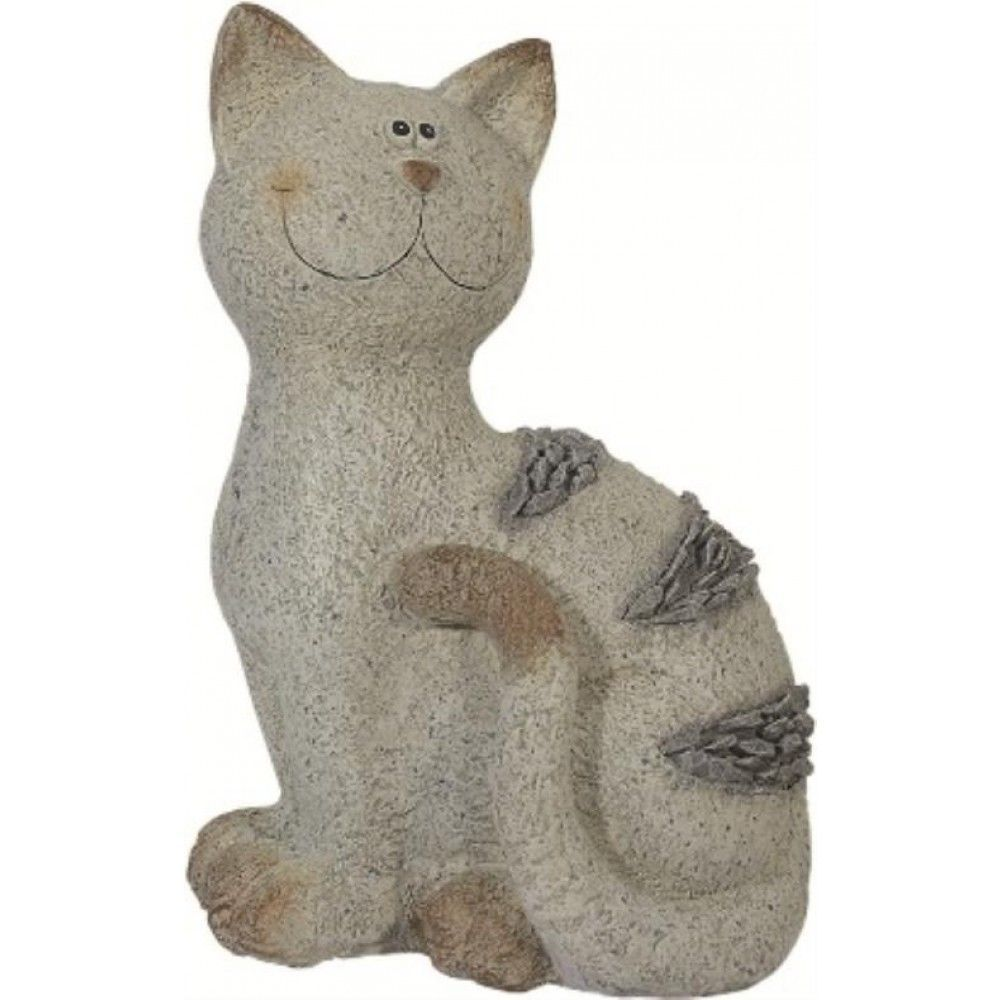 Details About CUTE ORNAMENTAL HANDMADE STONE EFFECT CAT STATUE SUITABLE FOR  HOME U0026 GARDEN