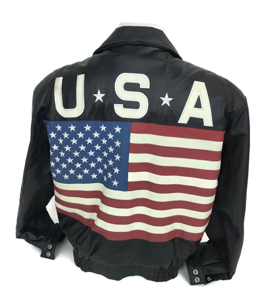 Exit Usa Size Small Ebay Bomber Jacket Men Mens Jackets Leather Bomber Jacket