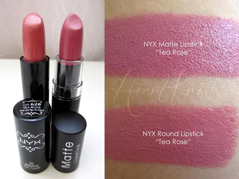 Nyx Tea Rose Matte Is Dupe For Mac Pretty Please Vs Round Lipstick