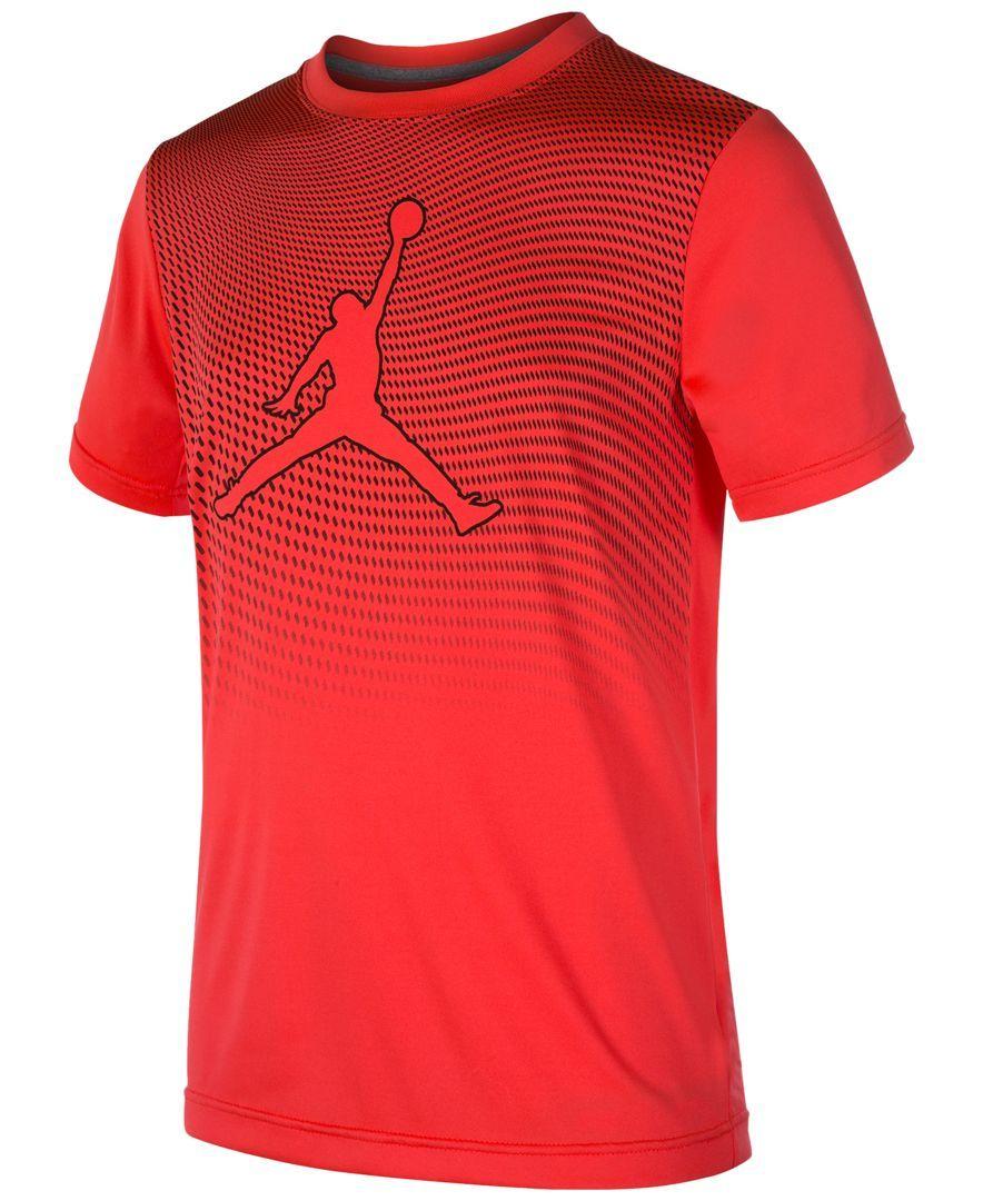 f170b157259 Jordan Boys  Mesh Dri-fit Graphic-Print T-Shirt