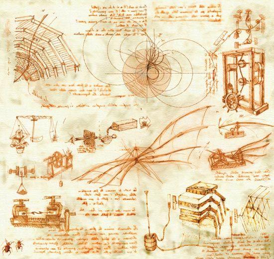 leonardo da vinci inventions | Would make cool wall art | House ...