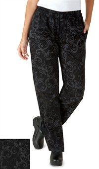 Style 5601bfg Pantalon De Chef Para Mujer Estampado Butterfly Garden Ropa Pantalon Dama Chaqueta Chef
