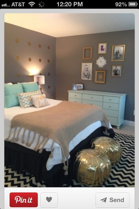 Grey Teal Black And White Gold Bedroom Home Bedroom Home Decor