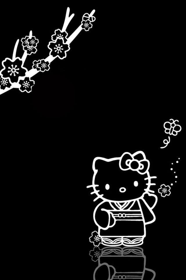 Hello Kitty And Sakura Hello Kitty Backgrounds Hello Kitty Wallpaper Hello Kitty Pictures