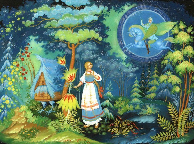 Картинки василиса прекрасная русская народная сказка