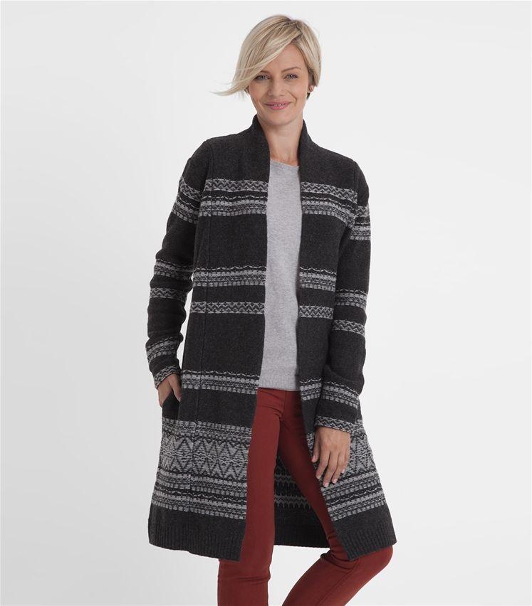 Womens Lambswool Fairisle Coatigan | Keeping Warm | Pinterest ...