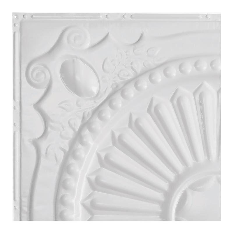 Great Lakes Tin Toronto Matte White 2 Foot X 2 Foot Nail Up Ceiling Tile Carton Of 5 Tile Samples Ceiling Tile Vintage Tin Ceiling Tile