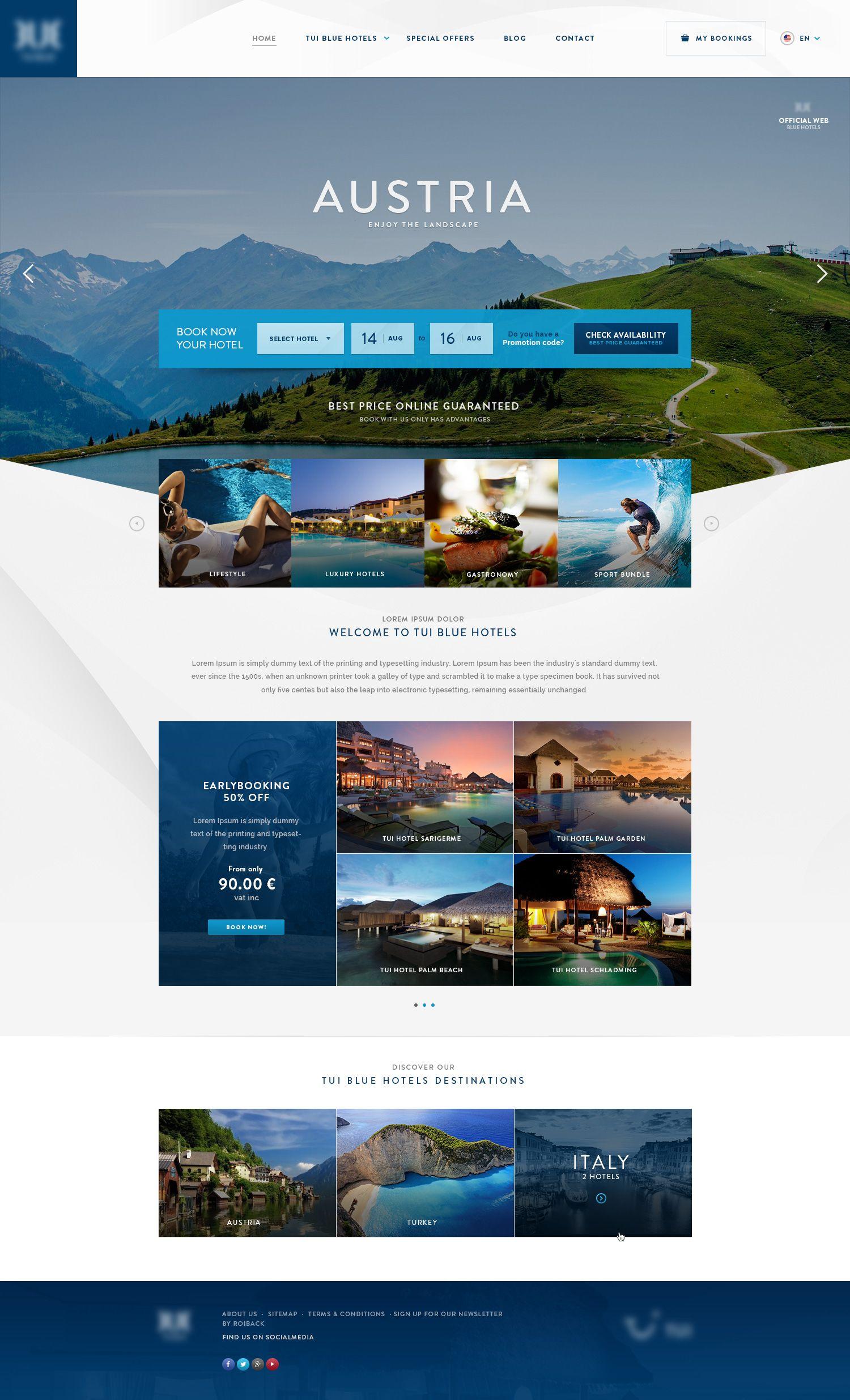 Home Tuiblue Corp Jpg By Xavipuig Hotel Website Design Travel Website Design Web Design