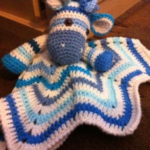 Lovey Crochet Pattern - Zebra PDF Security Blanket - Tutorial Digital Download DIY -  Rainbow Zebra Lovey  - Dou Dou - Baby Toy #securityblankets
