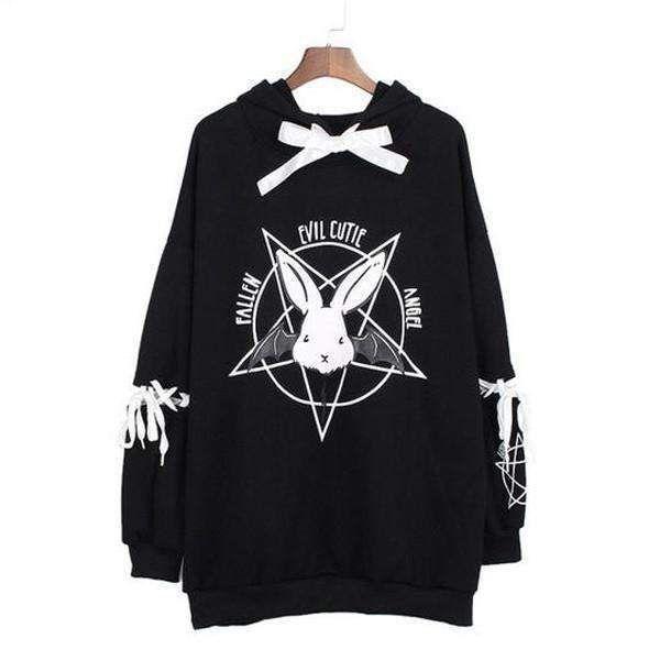 Over,Sized Yami Kawaii Gothic Lolita Rabbit Star Pentacle