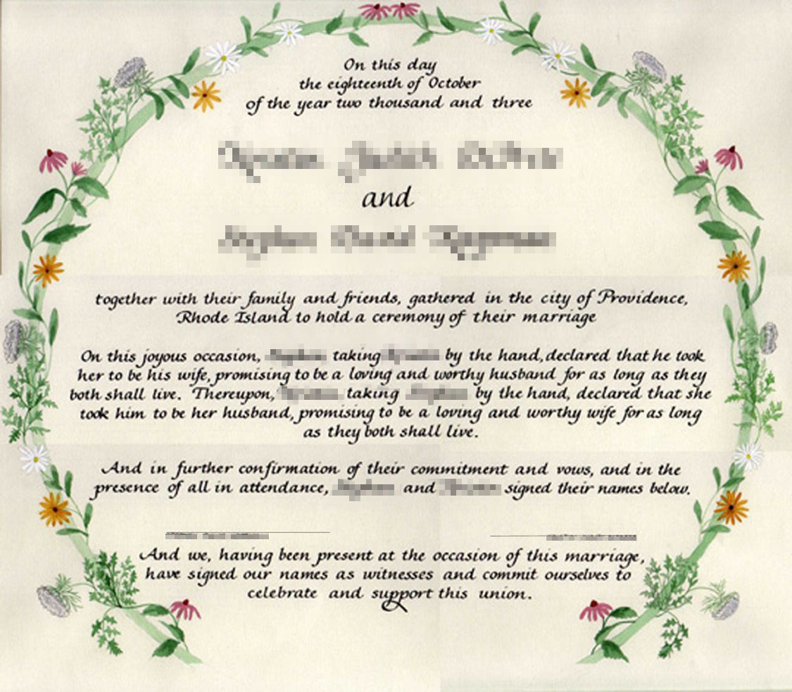 Naming Certificates Free Templates Ccn Certificate Samples Preparing For A Day Marriage Celebrant Grafton Coffs Creator