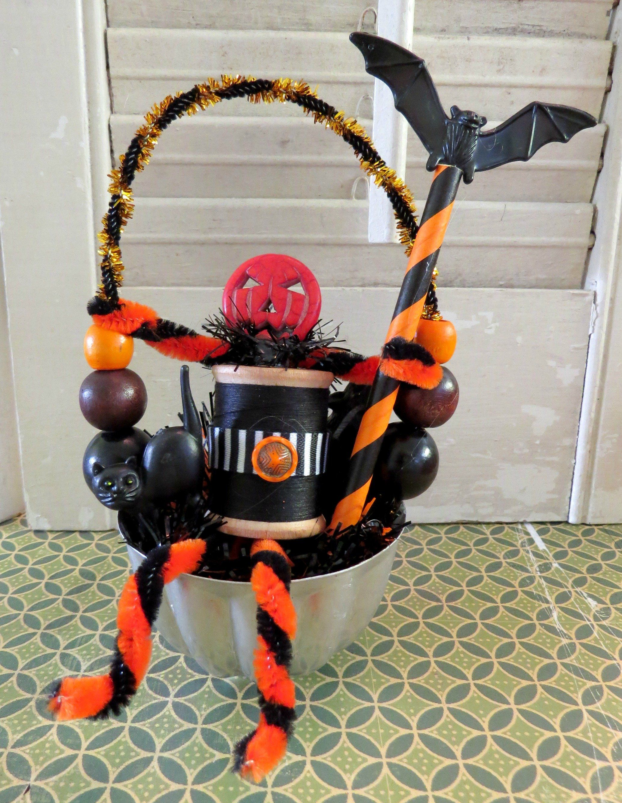 Hey, Jack!Here is a fun Halloween decoration made with vintage and - whimsical halloween decorations